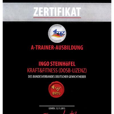 Zertifikat A-Trainer-Ausbildung